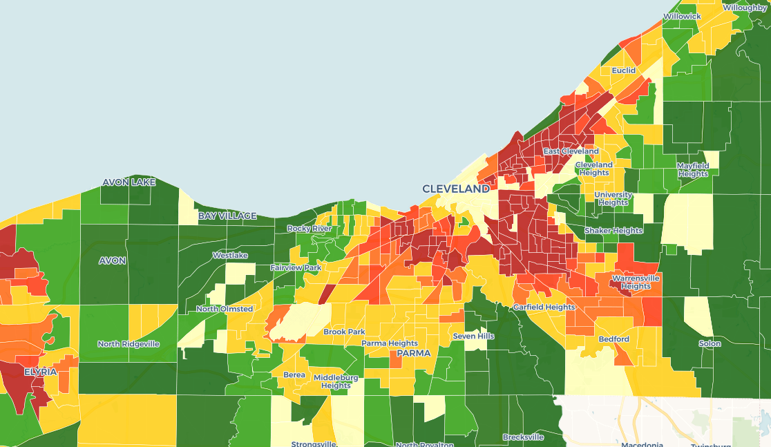 Cleveland Neighborhood Rating Map