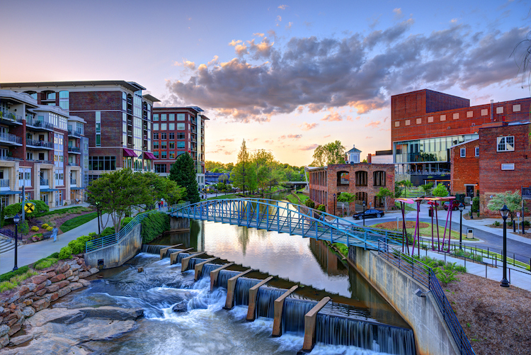 Greenville downtown