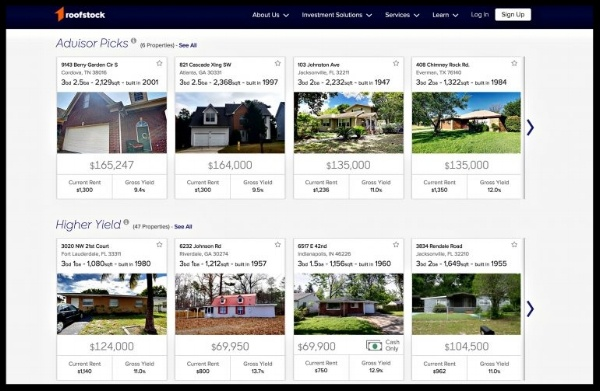 Roofstock marketplace buy sell rental property investment homes