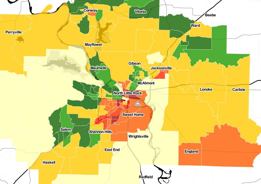 Little Rock heatmap