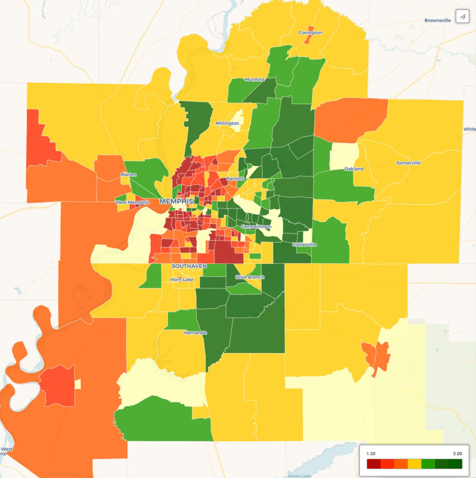 Memphis heatmap
