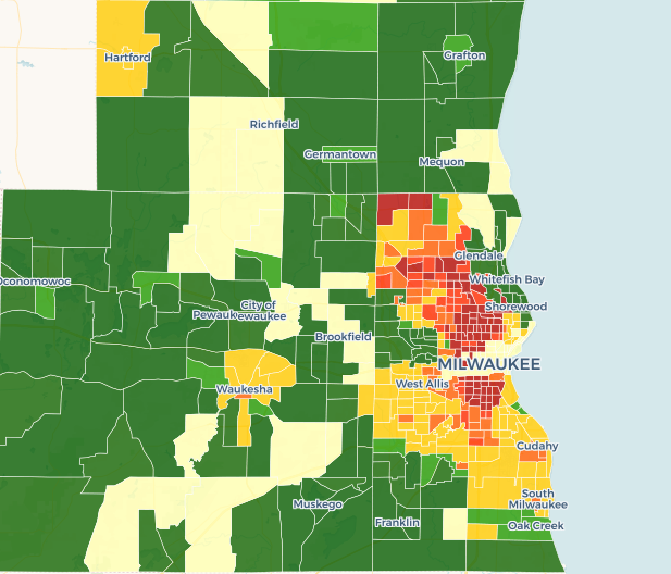 Milwaukee Neighborhood Rating Map
