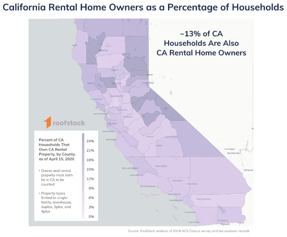 Roofstock California Single-Family Rental Per Capita Map