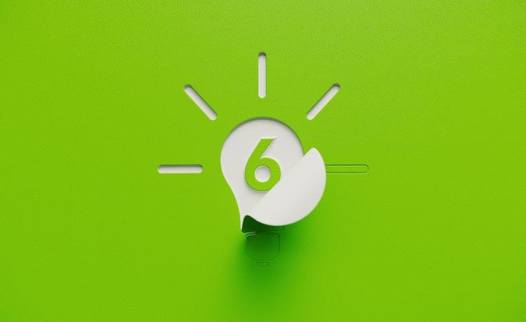 lightbulb with 6