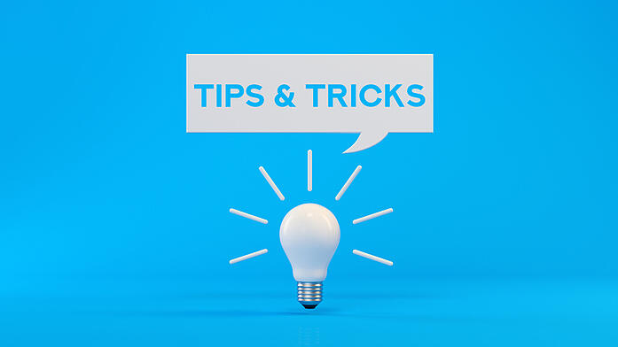lightbulb with tips and tricks