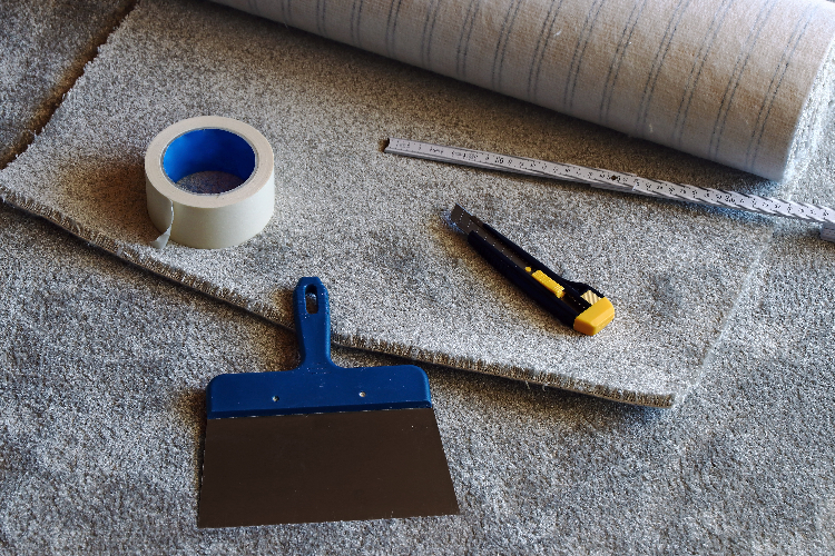 tools and carpet