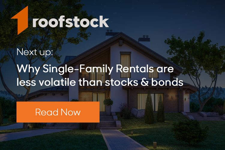 Single-family rentals investment real estate vs. stocks and bonds