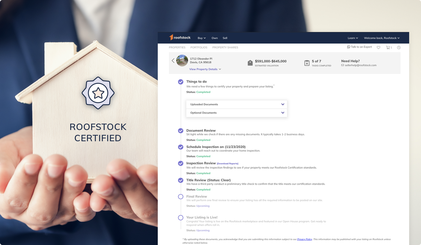 Roofstock Launches Certification Tracker to Simplify Real Estate Sales